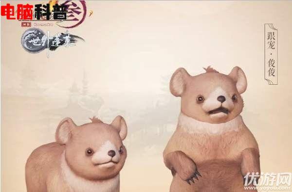 剑网3萌熊跟宠俊俊怎么得 剑网3萌熊跟宠俊俊获得方法介绍