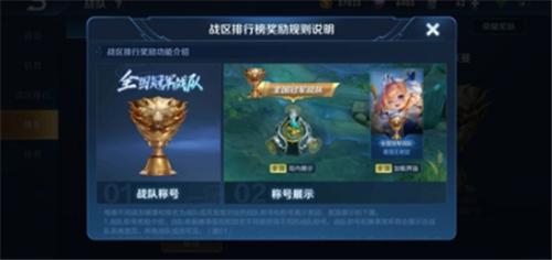 王者荣耀战队市级怎么才能在游戏中展示出来 战队市级称号显示哪里设置