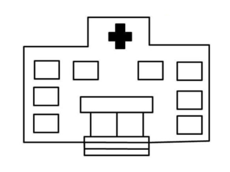 QQ画图红包医院怎么画简单的 QQ画图红包医院简笔画